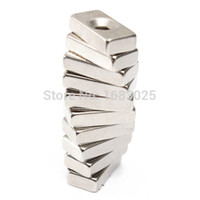 Wholesale 10pcs Stable Strong Super Strong Block Magnets x x mm Hole mm Rare Earth Neodymium N5