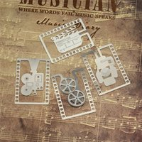 Wholesale Pieces Unique Metal Bookmarks Camera Film Movie Lighting Projector Metal Book Mark School Stationery Kids Gifts