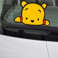 Wholesale Cute Baby Winnie The Pooth Car Stickers Fashion Cartoon Character layers PET material DIY Decals on Car