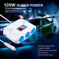Wholesale Car Stockets Adapter Lighter Extension Socket Splitter Lighter A Current Output Power USB Charger V W order lt no track