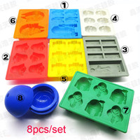 Wholesale Hot Toys Set Star Wars Ice Tray Silicone Mold Ice Cube Ice Cream Makers Chocolate Fondant Mould Decorating Tools