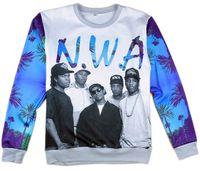 Wholesale Alisister harajuku men women s N W A Team pullover hoodies d print character sweatshirts Hip hop hoodies long shirt clothing