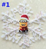 resin christmas ornaments - 30pcs New Minions Christmas Tree Decoration Despicable Me Snowflakes Christmas Tree Hanger Party Decor