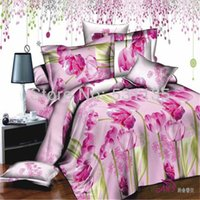 beautiful bedspreads - Beautiful pink flowers bedding sets cotton duvets quilt covers bedlinen comforters bedclothes bedspreads for queen size