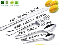 Wholesale Stainless steel knife more four piece suit western style food tableware knife and fork spoon More upscale