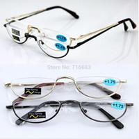 Wholesale Half rimless Classic Vintage Spring Hinge Eyeglass Frame Reading Glasses CE