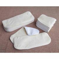 Wholesale Hot sales Layers Antibacterial Bamboo fiber Baby Diaper diaper pad Cloth Diaper Inserts Diaper Liners