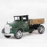 army ornaments - hot sell iron model army green trucks with trailers retro holiday ornaments creative gifts