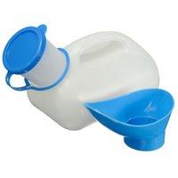 Wholesale Brand New Plastic Unisex Portable Mobile Urinal Toilet Car Journey Travel Male Female Urine Bottle mL White Blue