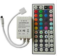 Wholesale DC V Keys IR Remote RGB LED Controller Mini Dimmer for LED Strip SMD RGB LED Strip Remote Mini Controllers