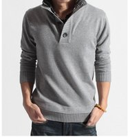 Wholesale Mens casual slim fit V neck Pullover Mans fashion leisure Sweater
