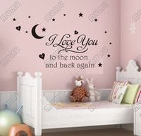 american poetry - i love you moon moon carved generation famous European and American Poetry English Proverbs Wall Stickers