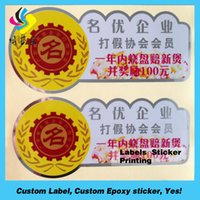 Wholesale Self adhesive PVC label printing Printing sticker label print