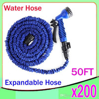 Wholesale 50 FT Garden hose ft with expandable blue and green water hose gun high quality WATER GARDEN Pipe Water valve ZY SG
