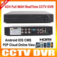 Wholesale 4 Channel Security H DVR CH Audio In H Network Video Recorder Playback Network CCTV DVR For iPhone Android Online View Max TB HDD