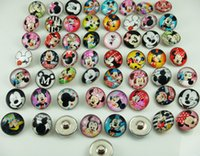 bracelet connectors - new fashion Mickey series mixes High quality Alloy Chunk Snap Button charm fit NOOSA bracelet diy charm Jewelry Accessories