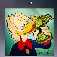 Wholesale High Quality genuine Hand Painted Wall Decor POP ART Giclee Oil Painting On Canvas Alec Monopoly LOVE WITH MONEY