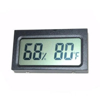 Wholesale Mini Digital LCD Car Outdoor Thermometer Hygrometer Vehicle Led Thermometer Hygrometer