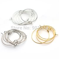 circle hooks - 100pcs mm classic fashion ladies small round loop hoop circle earrings iron ear wire hooks diy jewelry material F2399