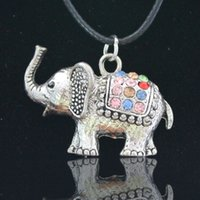 animal necklaces - DL14007 multicolor animal pendant necklace become warped nose and lovely elephant color seductive jewelry necklace