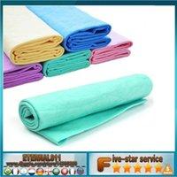 car wash sponge - 5color Magic Synthetic Deerskin PVA Chamois Car Cleaning Cham Towel Auto Care Wash Cloth Sponge Plas Chamois with storage case