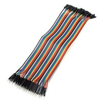 arduino wire male female - 40Pin Dupont wire jumper cable cm MM male to female P P For Arduino T1157 W0