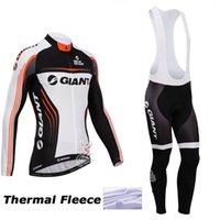 bicycle thermal pad - 2015 giant long sleeve Pro cycling jersey Winter Thermal Fleece cycling Clothes MTB GEL Pad Bib long pants sets Bicycle Clothes
