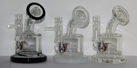 bent glass - 2016 New Arrival cm Water Pipes Bongs Percolator Smoking Pipe Mini Oil Rig Glass Bong Three Colors To Choose