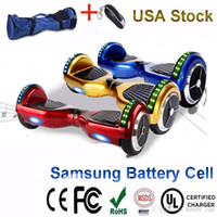 Wholesale USA Stock Hoverboard with RGB LED Light Bluetooth Speaker Electric Scooter inch Drifting Board Skateboard Samsung Battery UL Charger