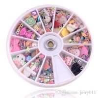 arrival glitters nail - New Arrival Nail Art Wheel Mixed Nail Art Tips Glitters Rhinestones nail tools nail art decorations