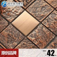 Wholesale Amalfi platinum metal ceramic resin relief mosaic backdrop B962 retro living room European style bedroom New