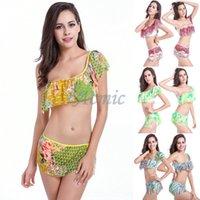 Cheap 2015 New Women Sexy Bikinis Set 5 Sizes Mesh Ventilate Fabric Corrugated Edge Swimwear Victoria Printed Swimsuit DM063