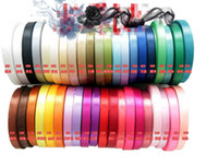 Wholesale 15 off new arrival yards roll Wedding ribbon quot mm single face satin ribbon Gift Packaging belt accessories yards drop shipping