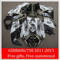 Wholesale GSX R600 GSX R750 GSXR GSXR GSXR600 GSXR750 K10 Injection Fairing Kits Of Suzuki Lucky Strike Black White