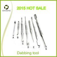 Guangdong,China  121 - ON SALE wax oil atomizer dab tool titanium nail dabbing tool dry herb dabber metal tool mm for smoking