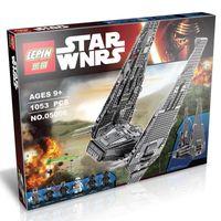 Wholesale 1053pcs Cool Building Blocks Star Wars The Force Awakens Kylo Ren s Command Shuttle Stormtrooper MiniFigures toy model kids gift