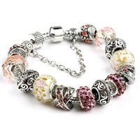 beaded flower bracelet - Fashion Charms Bracelets For Women Statement Party Gift Jewelry Accessories Colors cm Plated Diy Beaded Bangle Christmas Chain