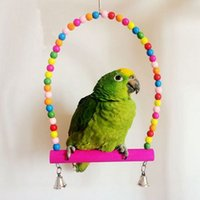 aviary cages - Lovely Colorful Wooden Bird Swing Toy Parrot Parakeet Cockatiel Lovebird Budgie Playing Toys Cage Aviary