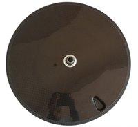 Wholesale 700c c mm width Full carbon disc wheels carbon fiber road bike disc wheels triathlon carbon disc wheels ironman disc wheels