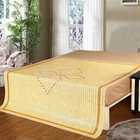 Wholesale Nature Bamboo Summer Sleeping Bed Sheet Mat Manual Craft Bamboo Bed Mat Air Permeable Quaint Design for Sale LX1504