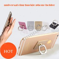 Wholesale 360 degree rotation mobile phone ring stent finger metal ring bracket Anti Drop Ring for iPhone Tablet Ring Grip Stand Holder mount