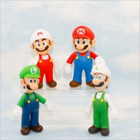 Wholesale Hot selling cm Super Mario Action Figure Super Mario Bros Luigi Mario Plastic doll Drop Shipping