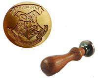 Wholesale Vintage Harry Potter Hogwarts School Badge Wax Seal Stamp Handle Set Invitation