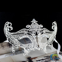 Wholesale masquerade masks for movie fans Tanabata party upscale diamond Iron Mask Venetian mask diamond metal ball