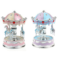 Wholesale 2015 New Carousel Music Boxes HOT Chrismas Birthday Gifts Merry Go Round Music Box For Kids Valentine s Gift Best Show In Love