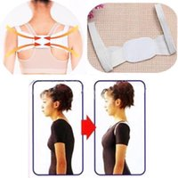 Cheap New Adjustable Therapy Shoulder Corrector Back Support Brace Belt Band Posture White