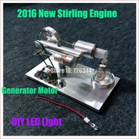 air motor generator - New Coming Hot Air Stirling Engine Model Generator Motor with LED Light LS003