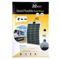 flexible solar panel - 30Watt Semi Flexible Solar Panel with ETFE and aluminium sheet