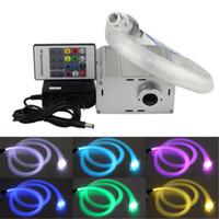 fiber optic lighting - 2015 LED Fiber Optic Light Fiber Optic Star Ceiling Light Kit mm M optical fiber Cree W white twinkle Light Engine Key Remote