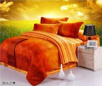 brand bedding sets - Luxury Egyptian cotton designer orange brand bedding sets king queen size duvet cover sheets bedspreads bed in a bag bedsheets quilt